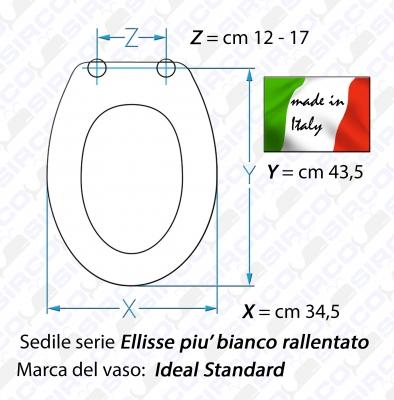 Ideal standard ellisse piu 39 sirco sas arredo bagno biella for Ellisse ideal standard