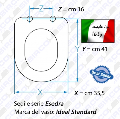 Sedile esedra bianco rallentato varianti ideal standard for Serie esedra ideal standard