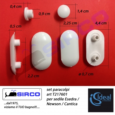 Cantica t217601 paracolpi originali varianti ideal for Ideal standard cantica copriwater