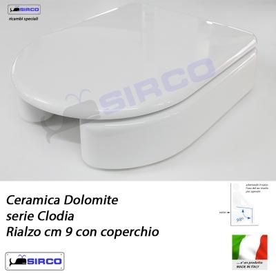 Sedile clodia rialzo con coperchio varianti dolomite for Dolomite serie clodia