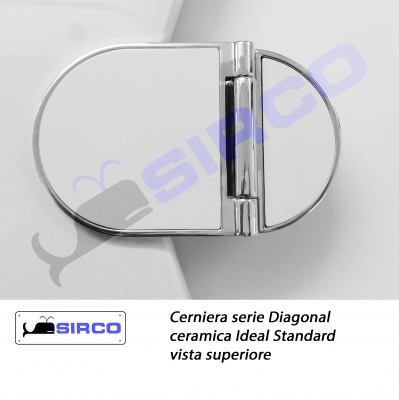 Diagonal cerniera per sedile originale varianti ideal for Ideal standard diagonal