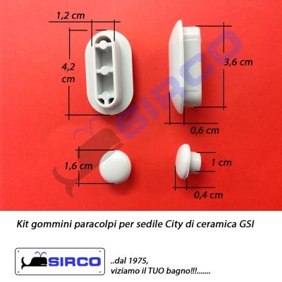 City gommini paracolpi gsi varianti gsi paracolpi sirco for Copriwater conca originale