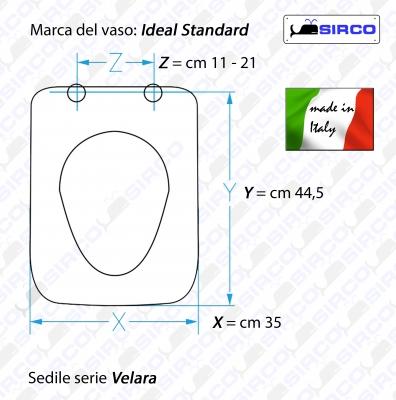 Serie velara scheda tecnica varianti ideal standard velara - Vaso ideal standard serie 21 ...