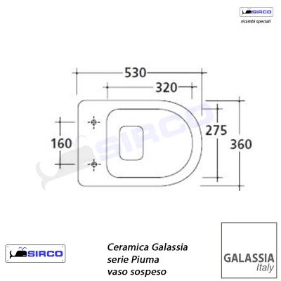 Ceramica Galassia Serie Piuma.Serie Piuma Scheda Tecnica Varianti Galassia Piuma Sirco Sas