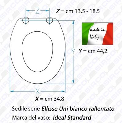 Modello ellisse uni bianco dedicato sedili per wc ideal for Ellisse ideal standard