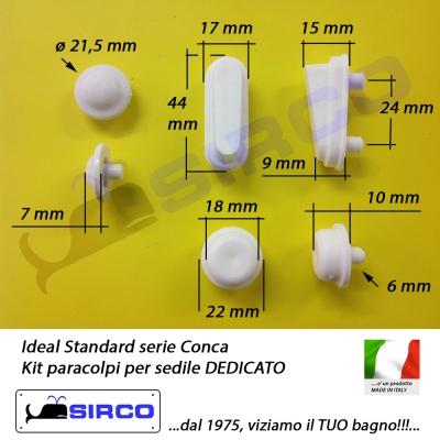 Gommini Per Sedile Wc.Conca Paracolpi Per Sedile Dedicato Varianti Ideal Standard
