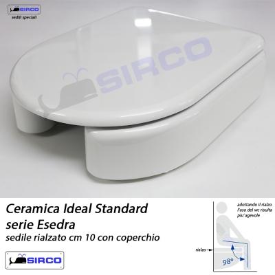 Sedile rialzato esedra con coperchio varianti ideal for Sedile wc ideal standard esedra