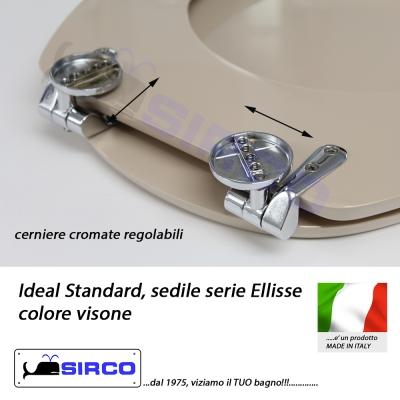 Sedile ellisse visone varianti ideal standard ellisse for Ellisse ideal standard