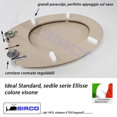 Sedile ellisse visone varianti ideal standard ellisse for Ideal standard conca visone