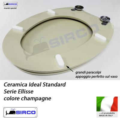 Sedile ellisse champagne varianti ideal standard ellisse for Ellisse ideal standard