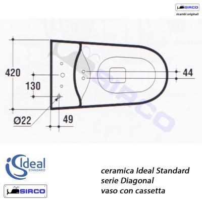 Diagonal batteria flusso singolo varianti ideal standard for Ideal standard diagonal