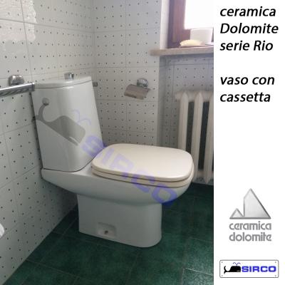 Dolomite serie rio vaso c cassetta bianco varianti dolomite photogallery sirco sas arredo bagno - Dolomite arredo bagno ...