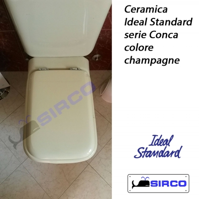 Conca champagne vaso con cassetta varianti ideal standard for Wc colore champagne