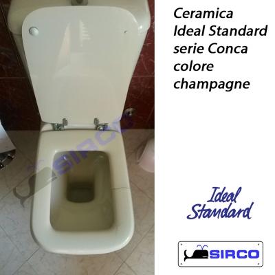 Conca champagne vaso con cassetta varianti ideal standard for Cassetta wc champagne