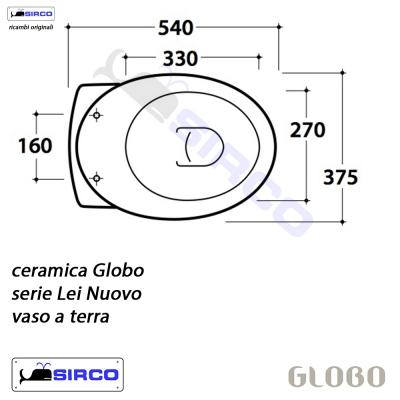 Serie lei scheda tecnica varianti globo lei sirco sas for Copriwater globo serie lei
