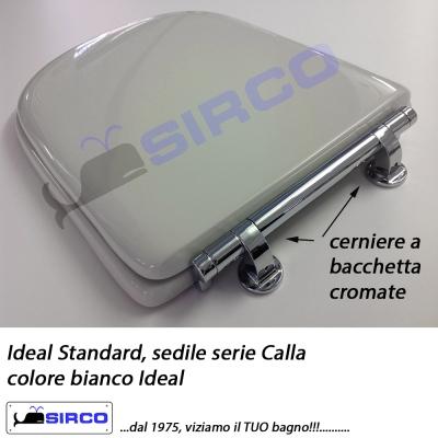 Sedile Wc Ideal Standard Serie Calla.Sedile Calla Bianco Cerniera Bacchetta Varianti Ideal Standard Calla Sirco Sas Arredo Bagno Biella Piemonte