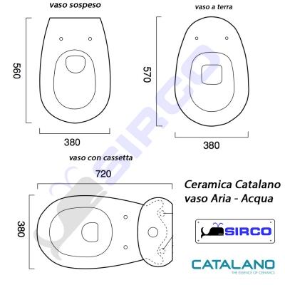 Ceramica Catalano Schede Tecniche.Serie Acqua Aria Scheda Tecnica Varianti Catalano Aria
