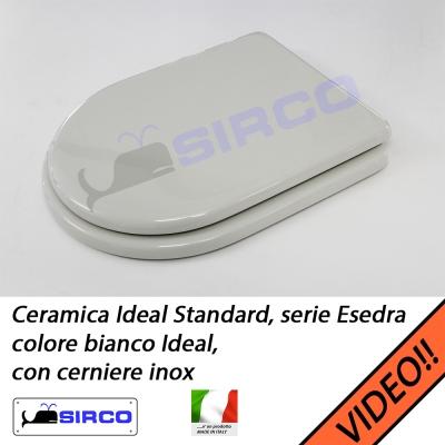 Sedile esedra bianco cerniere inox varianti ideal standard for Serie esedra ideal standard