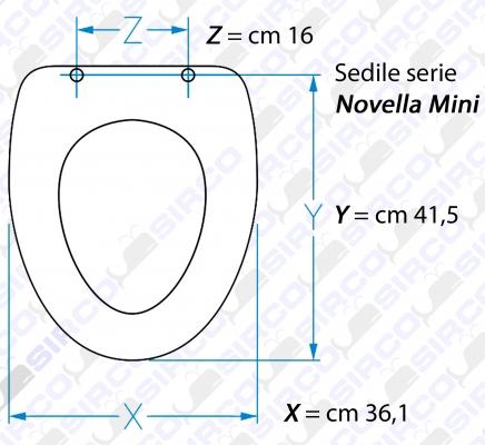 Ceramica Dolomite Novella Mini.Modello Novella Mini Sedili Per Wc Dolomite Sedili Per Vasi Dolomite