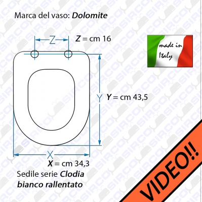 Sedile Wc Dolomite Clodia.Sedile Clodia Bianco Rallentato Varianti Dolomite Clodia Sirco Sas