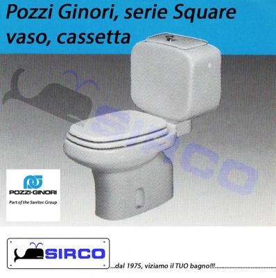 Modello square sedili per wc pozzi ginori sedili per vasi for Cassetta wc champagne