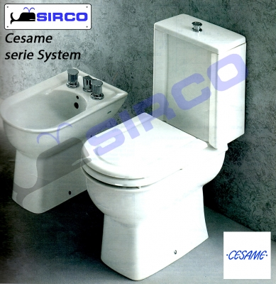 Modello system bianco varianti cesame system sirco sas for Arredo bagno biella