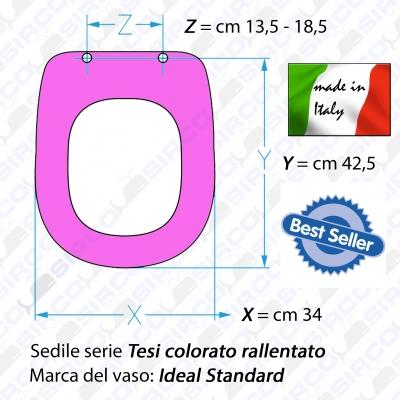 Sedile tesi 4023 bianco laccato varianti ideal standard for Ideal standard tesi classic